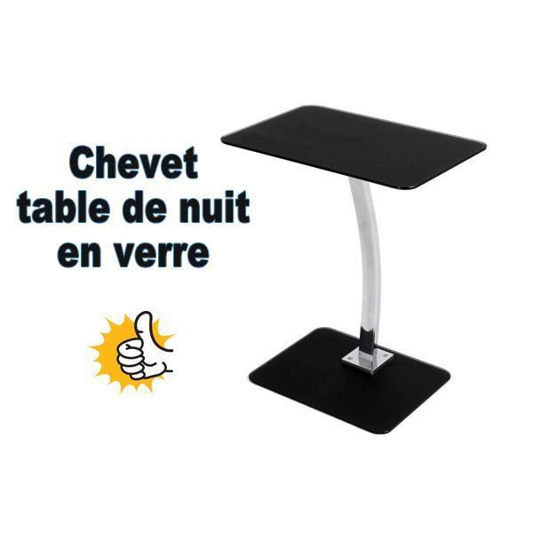 chevet chevet en verre tremp table de nuit design - Table De Chevet En Verre
