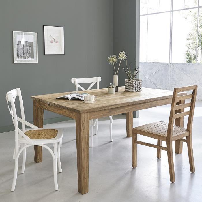 Table en TECK RECYCLE longueur 160 a 250 cm - D… - Achat / Vente ...