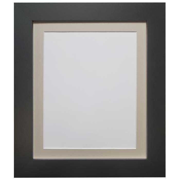Cadre 16 X 24 cadre photo photo métro, noir avec monture gris clair, 24 x 20