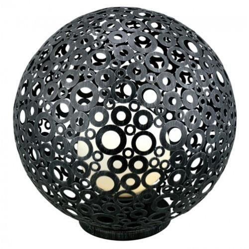 luminaire ext rieur boule d corative patin e diam 45cm achat vente luminaire ext rieur boule. Black Bedroom Furniture Sets. Home Design Ideas