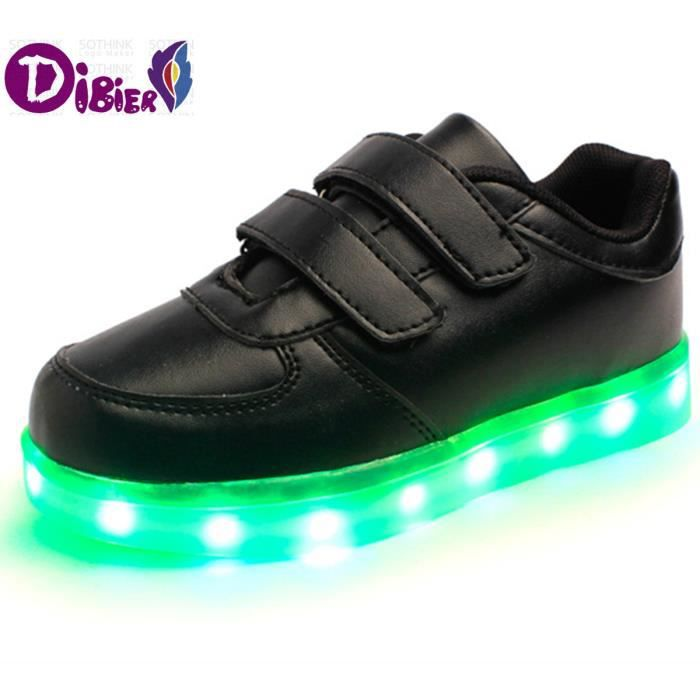 Nouvelle recharge USB éclairage LED chaussures Chaussures enfants Garçon Fille Casual Luminous Anti Skid Bottom enfants Chaussures d