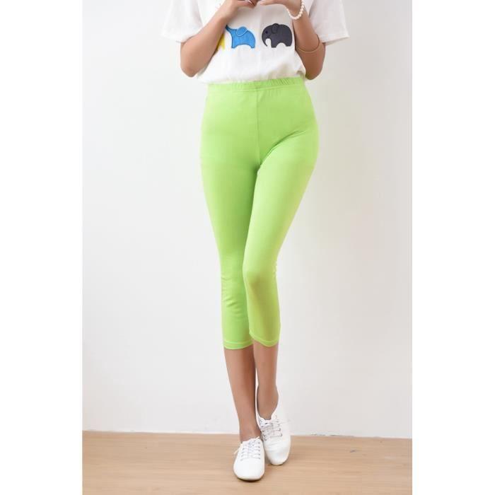 vaste gamme de mignonne profiter du meilleur prix 2PCS Femme Capri été 3/4 Longueur Leggings Large Size Stretch Soft Modal  Lingerie Pantalon Court Haute Taille Doux Extensible