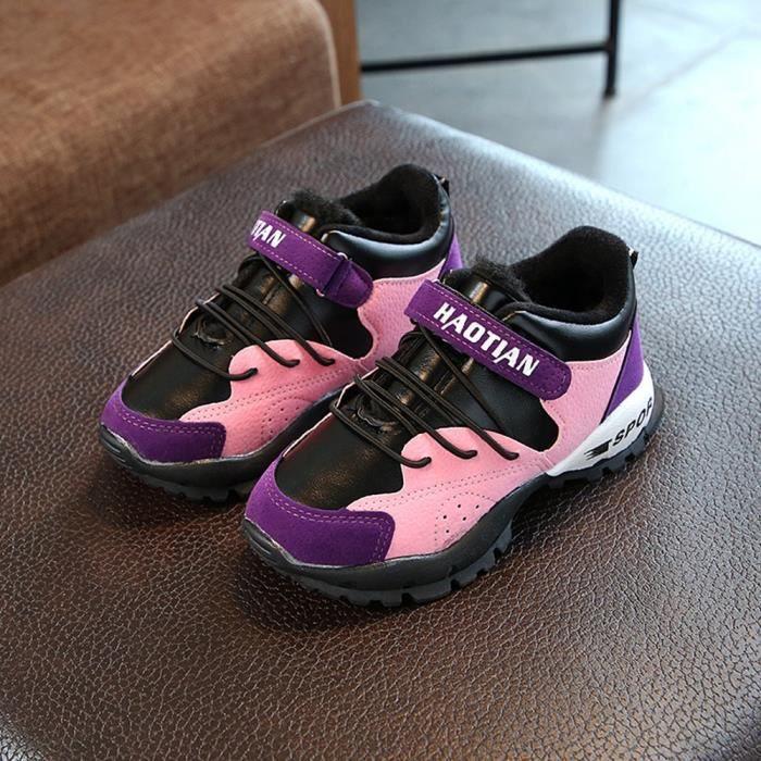 Chaussures Detente Chaussures enfants garçons et filles en automne et en hiver chaussures de sport de coton chaussures d'étudiant