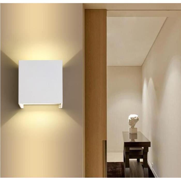 Led Applique Interieur Stoex® 7w Lumières Mural Blanc Moderne Carré Chaud Éclairage Murale yv8wOm0PNn