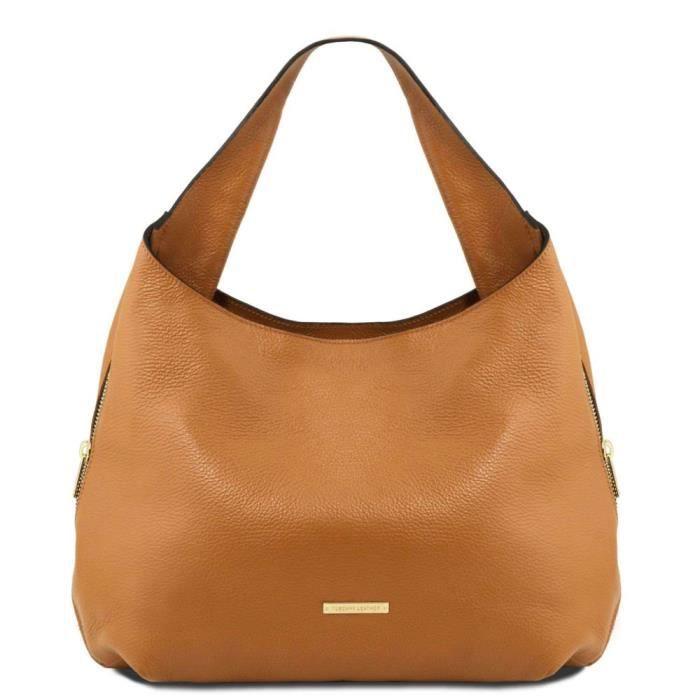 Tuscany Leather - Sacs à main en cuir - TL Bag - Cognac (TL141683)