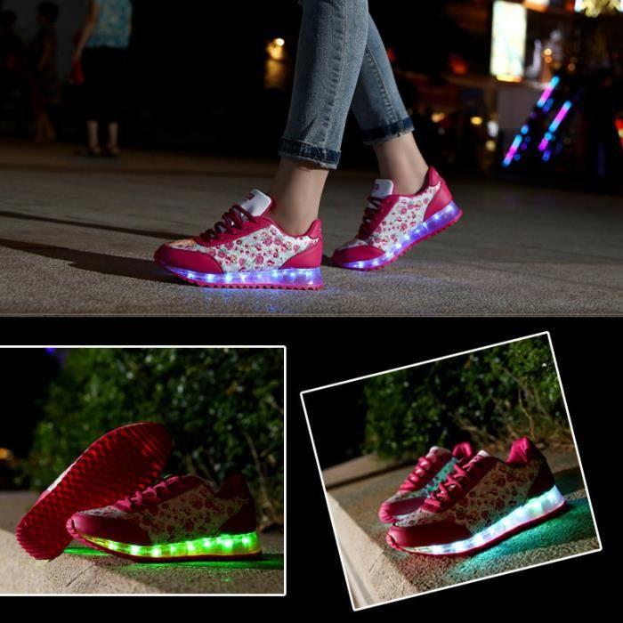 7 CouleurFemmeUSB Charge LED Lumière Lumineux Clignotants aBmwwmuXS2