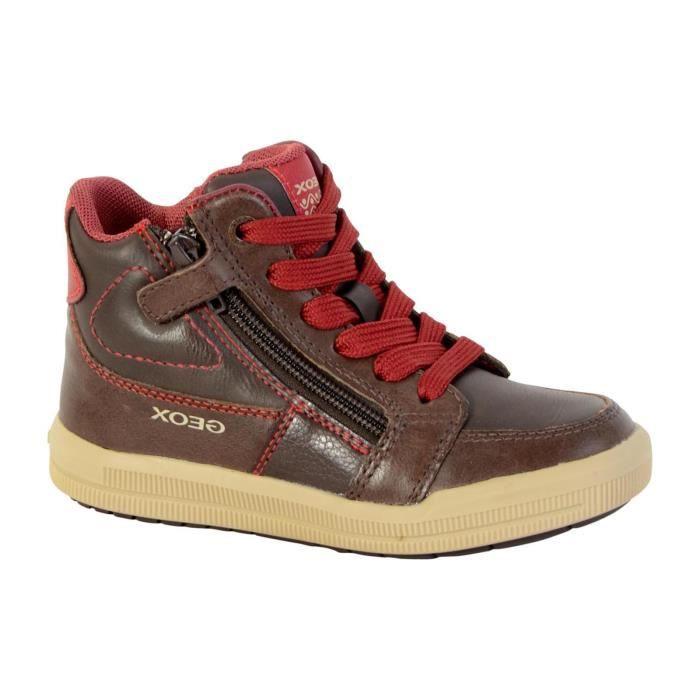 Basket Geox Enfant J Arzach Boy J744AF 0BCCL C0752 Coffee Dark Red