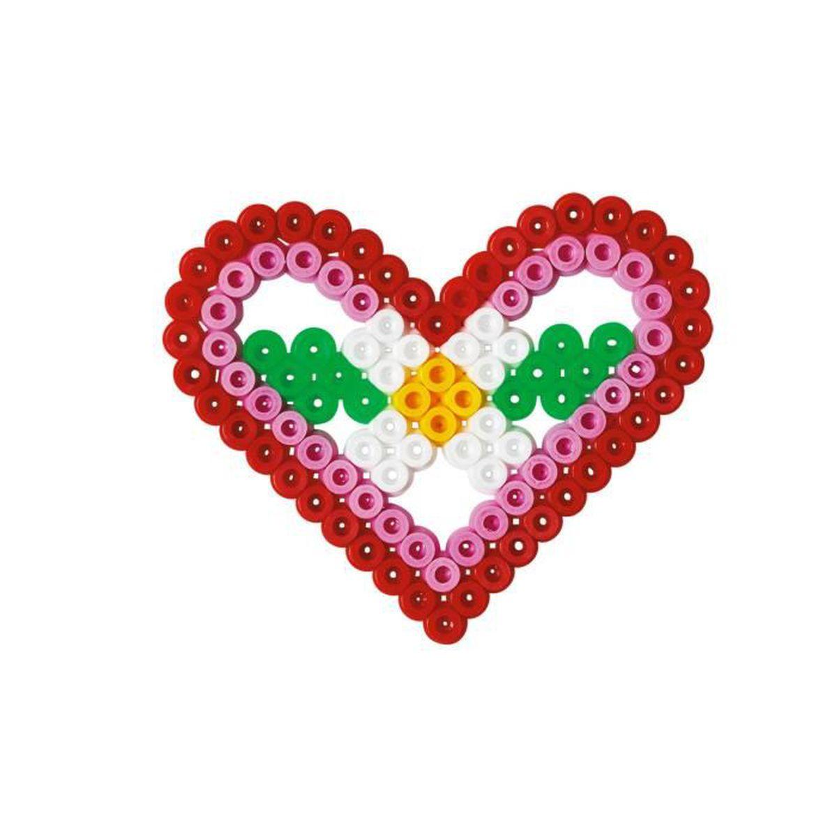 hama blister de perles moyennes petite plaque coeur achat vente jeu de perle repasser. Black Bedroom Furniture Sets. Home Design Ideas