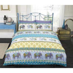 Housse de couette elephant achat vente pas cher - Housse de couette style indien ...
