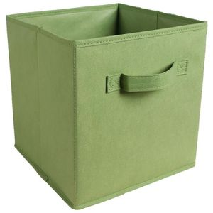 BOITE DE RANGEMENT Tiroir de rangement - Tissu - 27x27x28 cm - vert