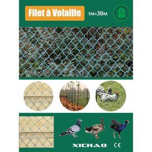 FILET DE PROTECTION Filet à Volaille 30mX1m Filet de Protection Pour P