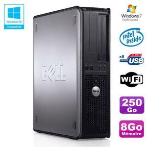 UNITÉ CENTRALE + ÉCRAN PC DELL Optiplex 780 DT Intel E7500 2.93Ghz 8Go Di