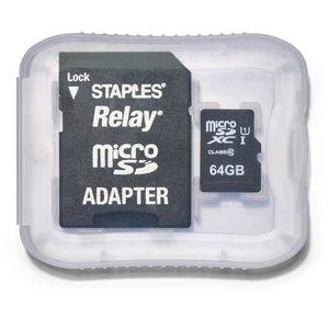 CARTE MÉMOIRE Relay microSDXC 64 GB avec adaptateur SD
