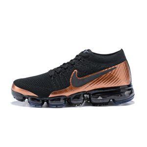 Or Noir Flyknit Chaussures Baskets Running De Nike Air Vapormax CTwnxq70p