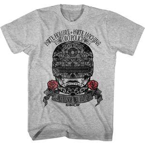 T-SHIRT T-shirt adulte Robocop des années 1980 Action Skul