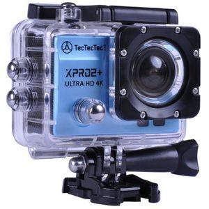 PACK CAMERA SPORT TECTECTEC XPRO2+ BLEU: Caméra Sport Ultra HD 4K Ca