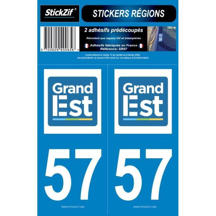 STICKZIF 2 Autocollants Région Département 57 SR57