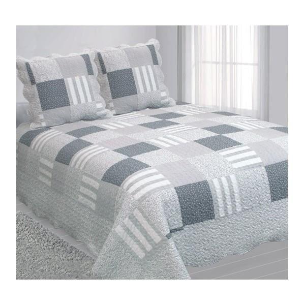 boutis couvre lit patchwork d cembre 2 places achat. Black Bedroom Furniture Sets. Home Design Ideas