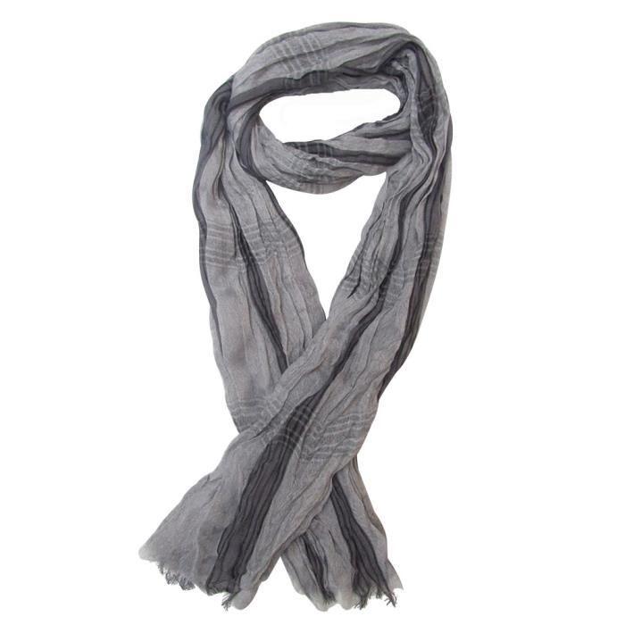 Chèche, foulard, écharpe pour homme gris clair, 180 x 50 cm. Gris ... d8c383e8210