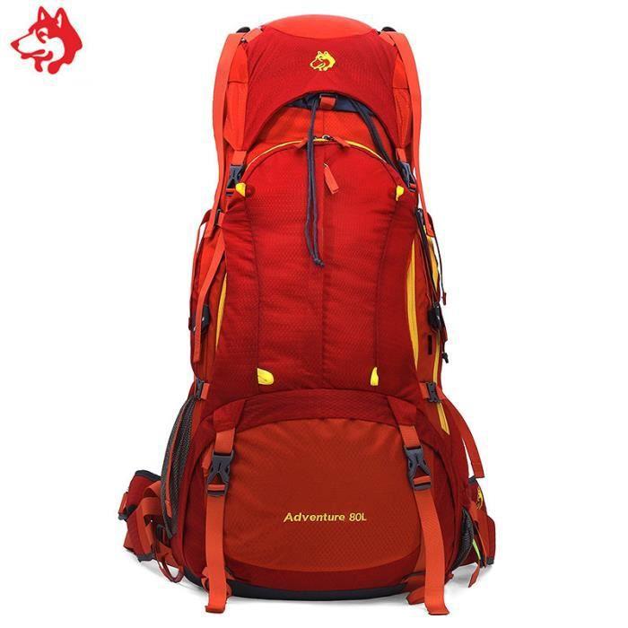 meilleur site web 554da f9ffc 80L nouveau camping en plein air randonnée sport sac de voyage  professionnel de l'alpinisme sac imperméable à dos trekking