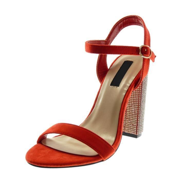 femme chaussure sandalette escarpin par lanière rouge e9cjm7a4iM