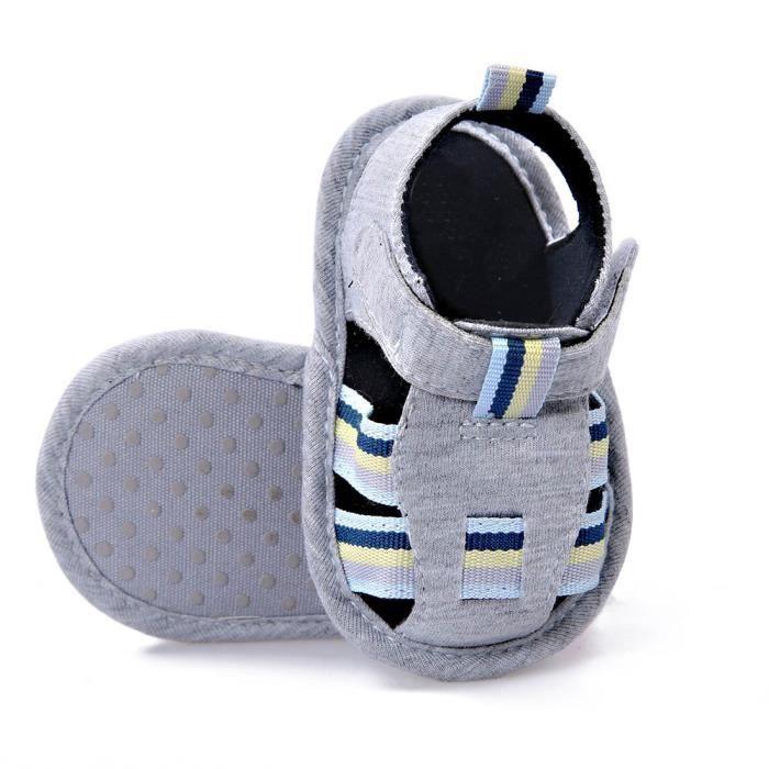 BOTTE Bébé Nourrissons Enfants Fille garçons Doux Sole Crib Toddler Nouveau-Né Sandales Chaussures@GrisHM