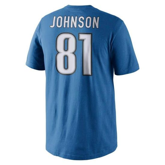 huge selection of 44ef3 b3e25 T-Shirt Nike Player Pride Name and Number (NFL Lions   Calvin Johnson)  Battle blue battle blue battle blue - Achat   Vente t-shirt - Cdiscount