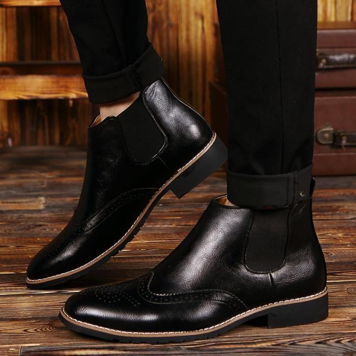 Richelieu Homme Rue Coolen cuir de vache en cuir Richelieux noir taille7