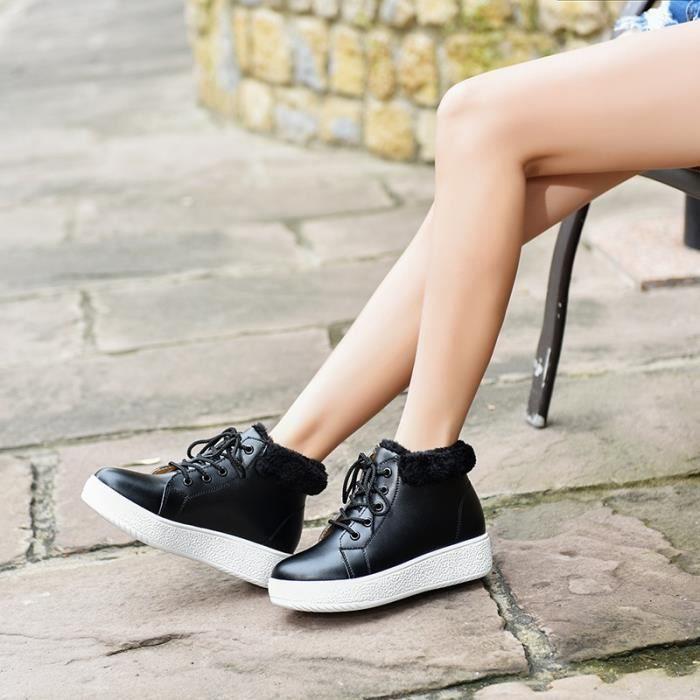 Bottes pour Femmenoir 6 Chaussures hauts sommets de 2 Color Plus Cachemire Chaussures mode casual de neige (noir, marr_191