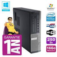 UNITÉ CENTRALE + ÉCRAN PC Dell 790 DT Intel G630 16Go Disque 250Go Graveu