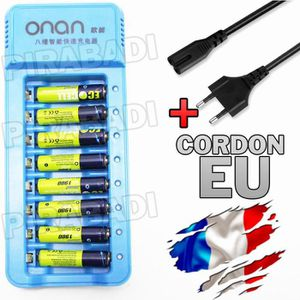 PILES 8 PILES ACCU AAA LR03 1.2V 1900mAh RECHARGEABLE +