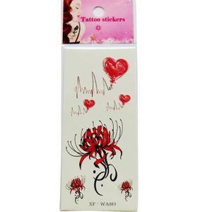 TATOO - BIJOU DE CORPS Autocollant faux de tatouages de fleur de papill