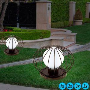 LAMPE DE JARDIN  Lampadaire extérieur LED luminaire sur pied boule
