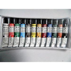 PEINTURE VERRE-VITRAIL 12 x tube peinture 12 tubes de peinture sur verre