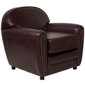 FAUTEUIL Fauteuil club cuir reconstitué marron vintage Marr 204d9cf3f9a9