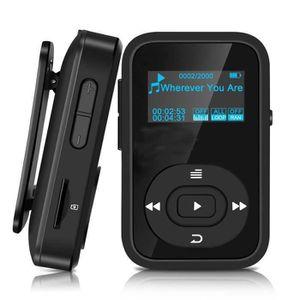 LECTEUR MP3 Mini Lecteur MP3 Sportif Bluetooth 4.0 avec Pince