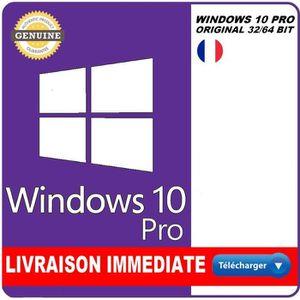 BUREAUTIQUE À TÉLÉCHARGER Windows 10 PRO Version Téléchargeable