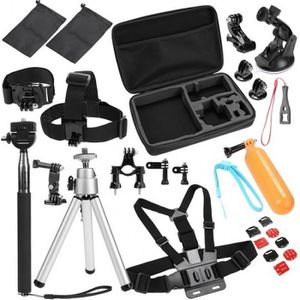 PACK CAMERA SPORT packe accessoire caméra gopro 30 en 1 tête élastiq