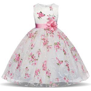 0627ce8ea3d ROBE DE CÉRÉMONIE WAIWAIZUI Petite Fille Robe de Princesse Florale R ...