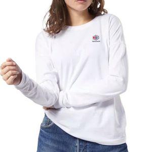 T-SHIRT Tee-shirt Femme  Blanc Reebok