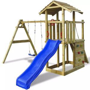 BALANÇOIRE - PORTIQUE Aire de jeu, échelle, toboggan, balançoires Bois 4