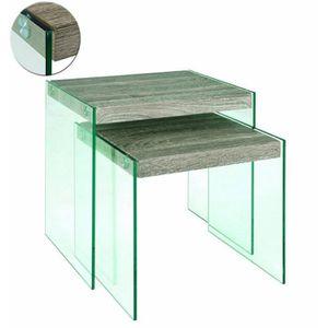 TABLE D'APPOINT Tables d'appoint en tube d'acier, MDF Coloris C…