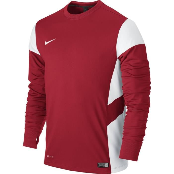 Nike maillot manches longues academy14 homme rouge