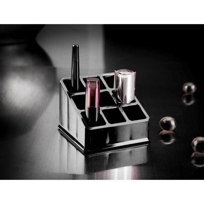 COMPACTOR Organisateur boite de rangement - 9x9x6,5cm - Noir