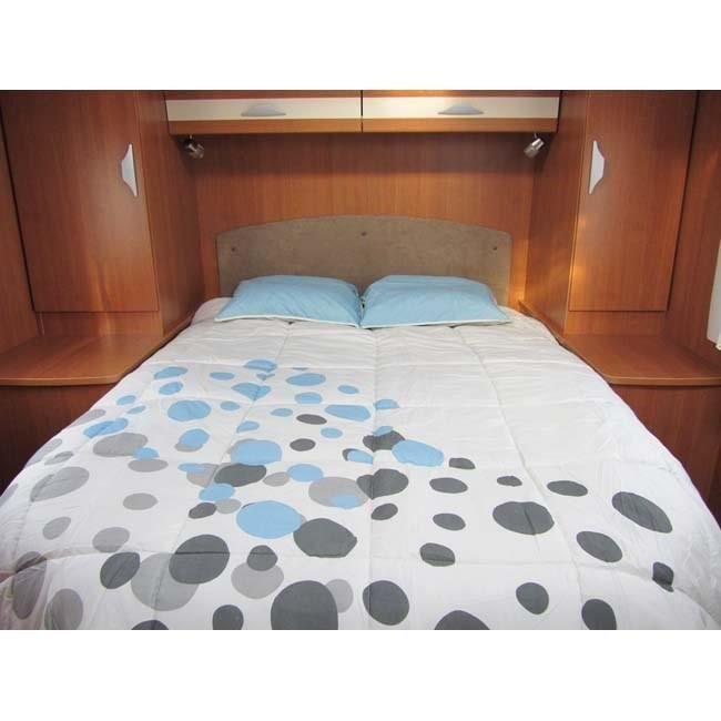 MIDLAND Draps Blancs 150x200 cm Lit Central - Linge de lit camping-car