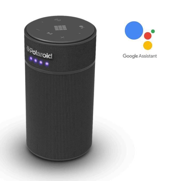 POLAROID SAM Enceinte vocale intelligente avec Assistant Google - Noir