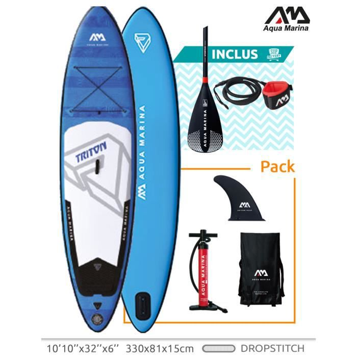 STAND UP PADDLE Stand up Paddle Gonflable Sup AQUAMARINA Triton 20