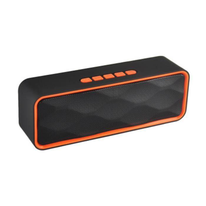 Portable Extérieur Bluetooth Haut-parleur Hd Stéréo Basse Colonne Boîte Sonore Sans Fil Tf Carte U Disque Lecteur Mp3 A
