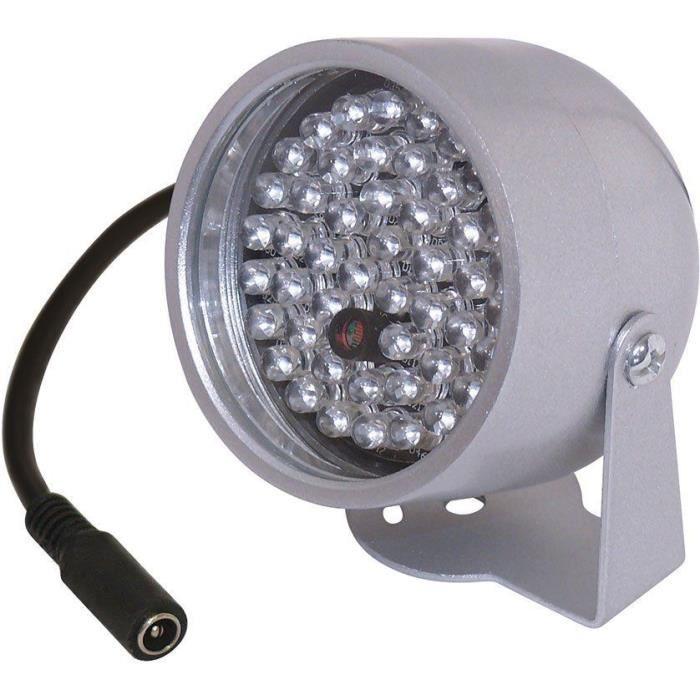 projecteur spot infrarouge 20m etanche exterieur 48 led ir camera surveillance achat vente. Black Bedroom Furniture Sets. Home Design Ideas