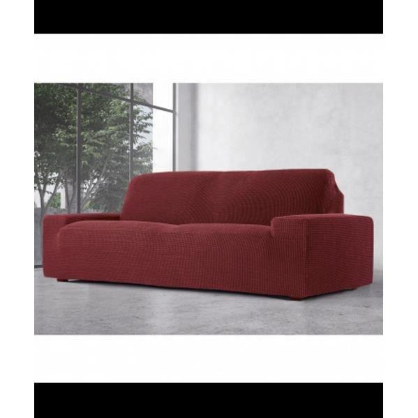 glamour couverture canap 2 places couleur grenat achat vente housse de canape cdiscount. Black Bedroom Furniture Sets. Home Design Ideas